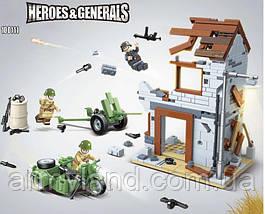 Конструктор военные руины здания, WW2,Вторая Мировая Война, 371 деталей, фото 3