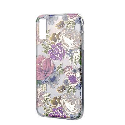 Силиконовый чехол Flowers Shine Samsung A750 Galaxy A7  2018 Rose