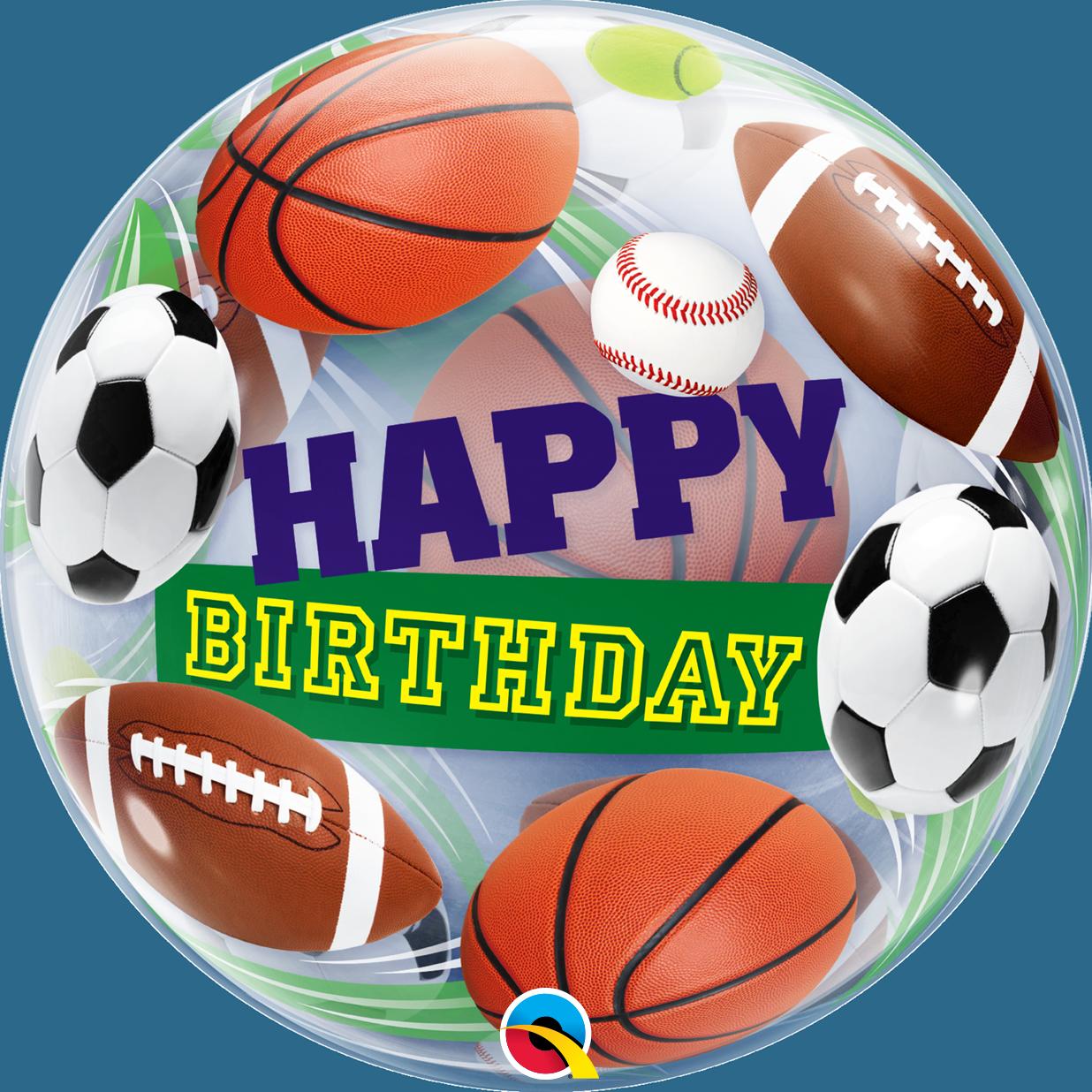 """Куля Bubble Бабл 22""""/56 см Happy birthday Спортивні м'ячі (Qualatex)"""