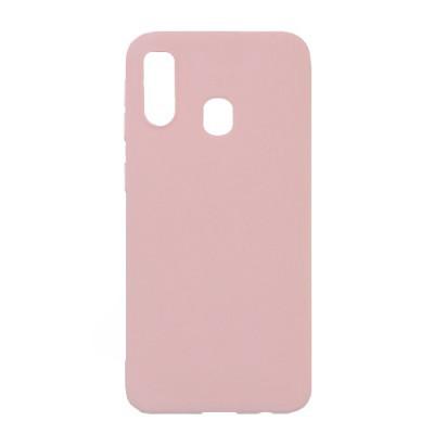 Силиконовый чехол SMTT Samsung A405 Galaxy A40 (Розовый)