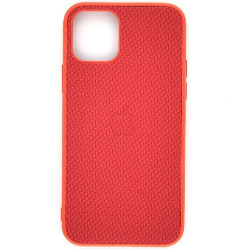 Чехол-накладка Carbon Apple iPhone 11 (Red)