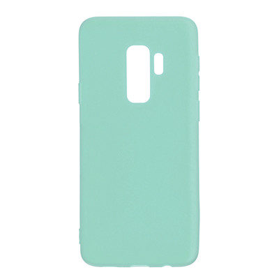 Силиконовый чехол SMTT Samsung G965 Galaxy S9 Plus (Мятный)