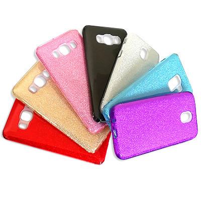 Силиконовый чехол Glitter Shine iPhone Х (Фиолетовый)