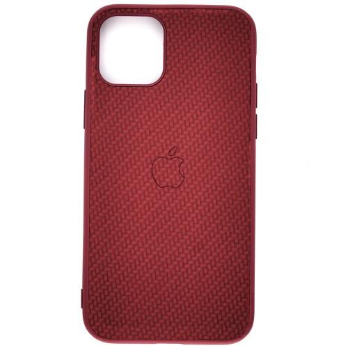 Чехол-накладка Carbon Apple iPhone 11 Pro (Bordo)
