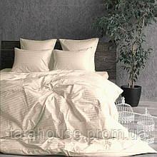 Комплект постельного белья Сатин Stripe CHAMPAGNE 1/1см