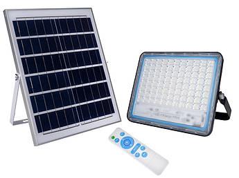 LED прожектор FOYU 120Вт фонарь на солнечной батарее Solar Light с пультом ДУ свечение14 часов