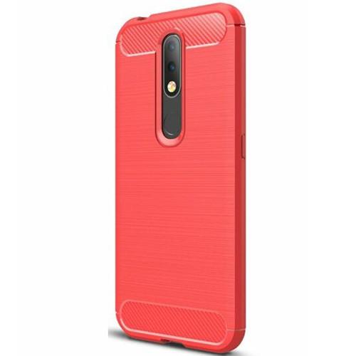 Силиконовый чехол Polished Carbon Nokia 4.2 (Красный)