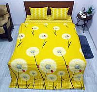 Комплект постельного белья ранфорс Одуваны на желтом, фото 1