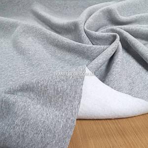 Футер трехнитка с начесом светло-серый меланж, Турция