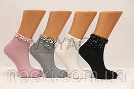 Женские носки средние с жемчугом к,571 PIER LONE   ассорти