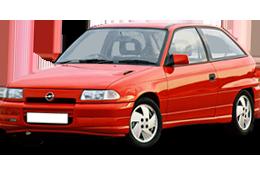 Дефлектор на капот (Мухобойки) для Opel (Опель) Astra F 1991-1998