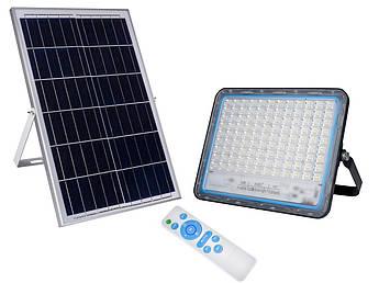 LED прожектор FOYU 200Вт фонарь на солнечной батарее Solar Light с пультом ДУ свечение14 часов