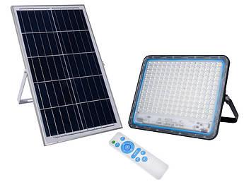 LED прожектор FOYU 300Вт фонарь на солнечной батарее Solar Light с пультом ДУ свечение14 часов