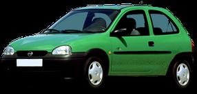 Дефлектор на капот (Мухобойки) для Opel (Опель) Corsa B 1993-2000