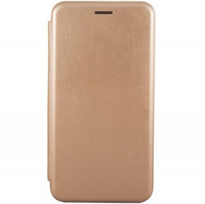 Чехол-книжка Premium Leather Samsung A605 Galaxy A6 Plus 2018  - Золотой