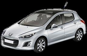 Дефлектор на капот (Мухобойки) для Peugeot (Пежо) 308 I (T7) 2007-2014