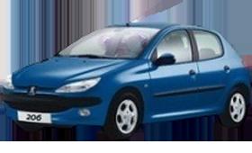 Дефлектор на капот (Мухобойки) для Peugeot (Пежо) 206 1998-2009