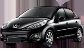 Дефлектор на капот (Мухобойки) для Peugeot (Пежо) 207 2006-2012