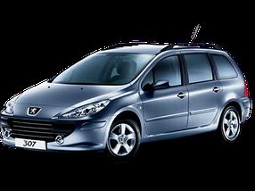Дефлектор на капот (Мухобойки) для Peugeot (Пежо) 307 2001-2008