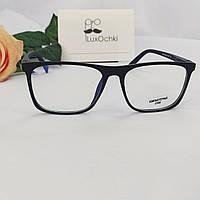 Имиджевые+компьютерные очки в пластиковой матовой оправе с флексованной( на пружинке) дужкой