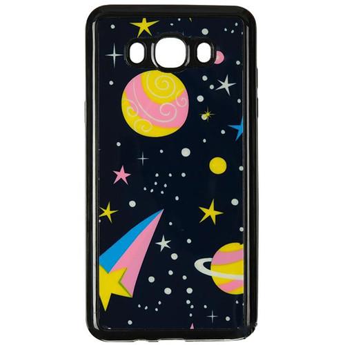 Силиконовый чехол Night Series Samsung J510 Galaxy J5 2016  Black (Dark Planets)