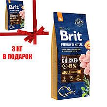 Корм для собак Brit Premium Dog Adult M 15+3 кг