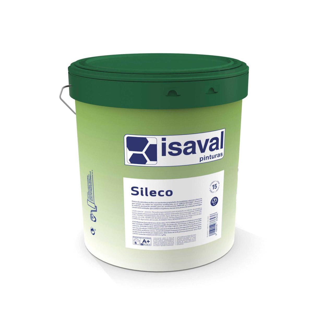 Краска силикатная матовая гипоаллергенная СИЛЕКО ISAVAL 4л до 56м2/слой