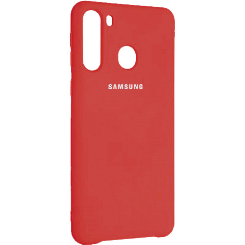 Чехол New Original Soft Case Samsung A215 Galaxy A21 (01) Red