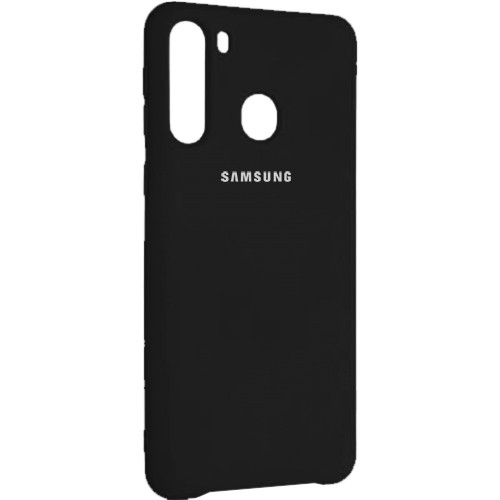 Чехол New Original Soft Case Samsung A215 Galaxy A21 (03) Black