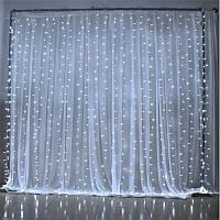 Гирлянда светодиодная Водопад (Дождик) 135 LED 1,5x1,5 м белая, белая теплая, синяя, микс