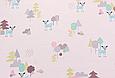 Сатин (хлопковая ткань) мелкие лесные звери (55*160), фото 2