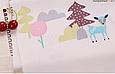 Сатин (хлопковая ткань) мелкие лесные звери (55*160), фото 3