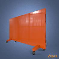 Металлический инфракрасный обогреватель помещений VESTA 1200 Вт, красный
