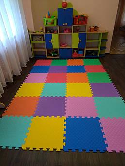 Детский коврик-пазл  EVA Старт 50 см на 50 см 10 мм