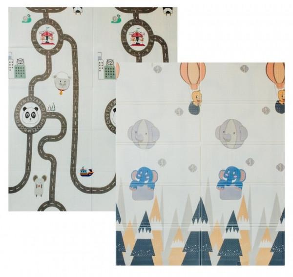 Детский двусторонний складной коврик Poppet Прогулка и Дорожные путешествия 180х150 см