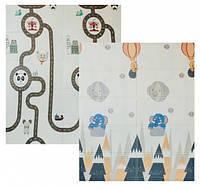 Детский двусторонний складной коврик Poppet Прогулка и Дорожные путешествия 180х150 см, фото 1