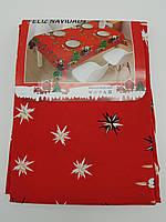 Скатертина новорічна тканинна 145 х 220см., фото 1