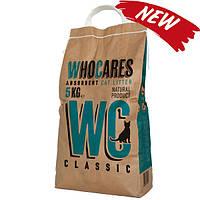 Наполнитель для кошек WhoCares Classic, впитывающий, без запаха, 10 кг 800314