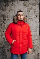 Мужская зимняя куртка Canada Goose Arctic Program красная, фото 1