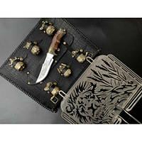 Решетка для барбекю Лев с ножом и чарками