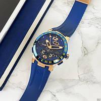 Стильные мужские механические часы Ulysse Nardin с каучуковым ремешком