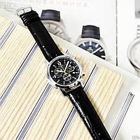 Стильные мужские часы Tissot кварцевый хронограф с кожаным ремешком