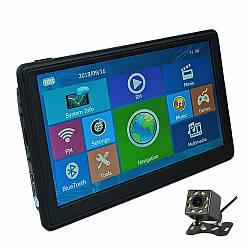 """Автонавигатор 8001 7.0"""" ddr2-128mb, 8gb HD с емкостным экраном, GPS-навигатор, Навигационная система для машин"""
