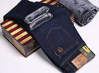 Зимние утепленные мужские джинсы брюки JEEP 31-42 р.