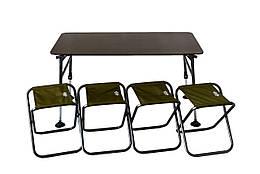 Стол + 4 стула комплект для кемпинга Novator SET-3 (120х65)