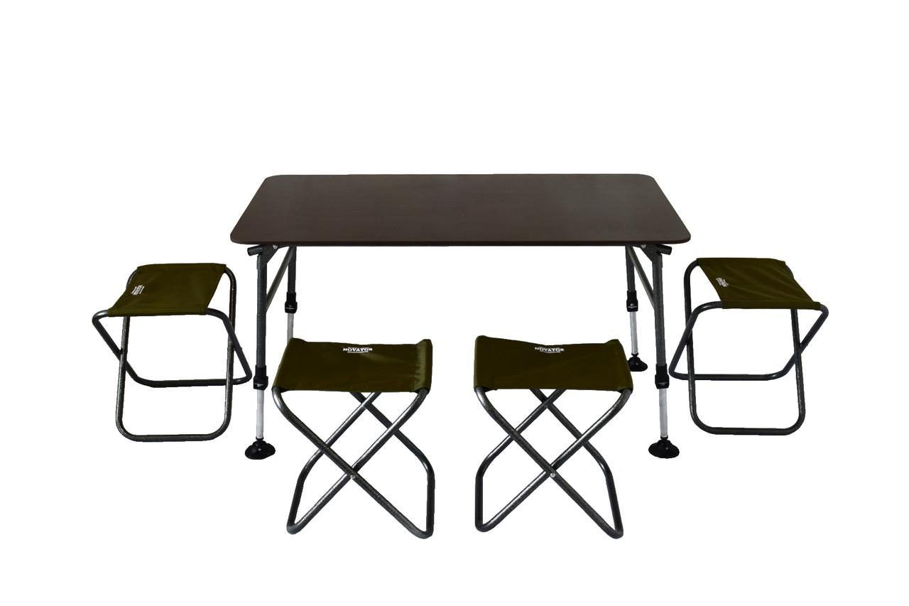 Комплект стол и стулья Novator SET-4 (100х60)