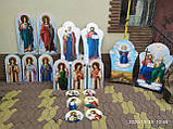 Икона храмовая писаная Святая Троица, фото 2