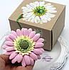 """Оригинальный подарок девушке, женщине, подруге. Заколка/ брошь цветок  """"Розовая гербера"""""""