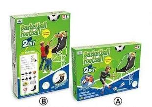 Набор 2 в 1 футбол и баскетбол для мальчиков от 3 лет. Детская подвижная и соревновательная игра
