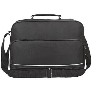 Мужская сумка Wallaby 3 отделения , ткань полиестр с ПВХ 31х22х15 тканевая ручка в 2130, фото 2